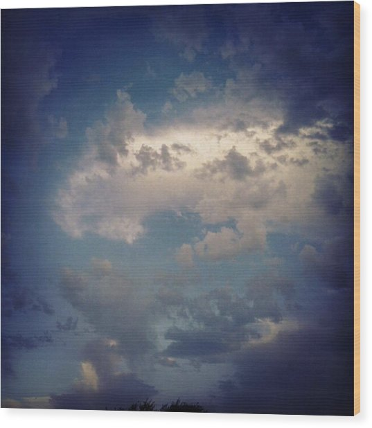 #clouds #sky #nature #andrography Wood Print by Kel Hill