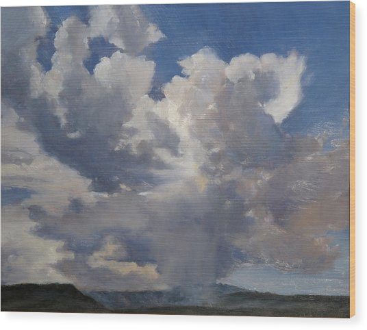 Cloudscape Wood Print by Victoria  Broyles