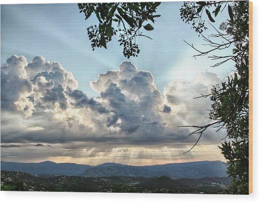 Cloudspiration Wood Print