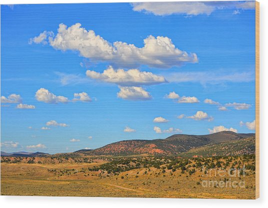 Cloudy Wyoming Sky Wood Print