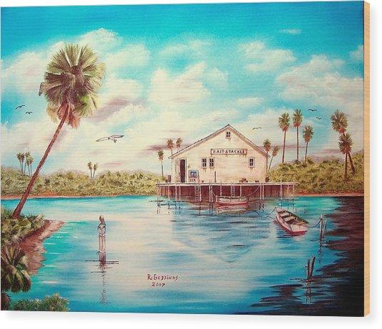 Coastal Glades Wood Print by Riley Geddings