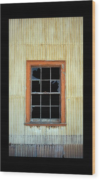 Cocina Window Border 2 Wood Print