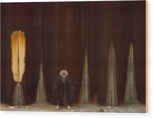 Coco Robicheaux Wood Print by Marie-Dominique Verdier