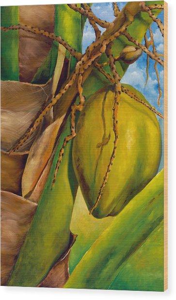 Coconuts Serie 2 Wood Print by Jose Romero