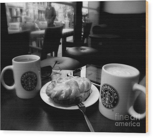 Coffee In Berlin  2 Wood Print by Tanya  Searcy