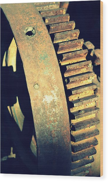 cog Wood Print