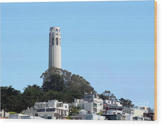 Coit Tower Wood Print