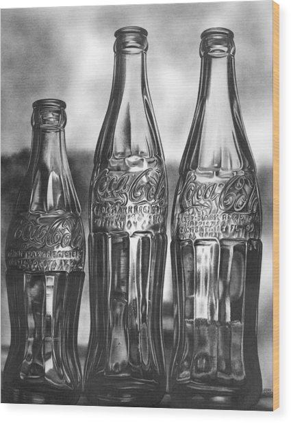 Coke Bottles Wood Print by Jerry Winick