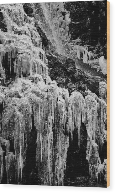 Cold As Ice Wood Print
