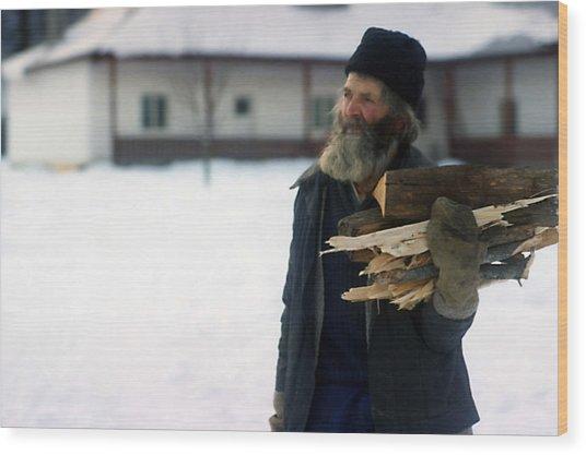 Cold Days Wood Print