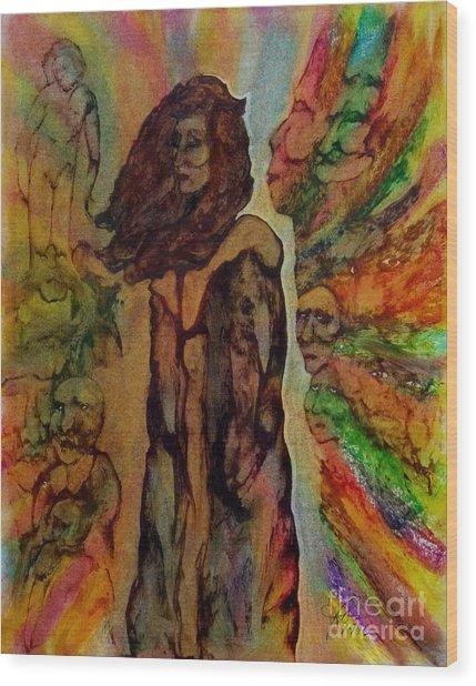 Cold Shoulder Wood Print by Linda May Jones