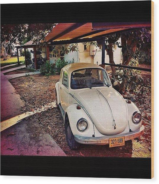 #collectors #classic #car #auto #white Wood Print