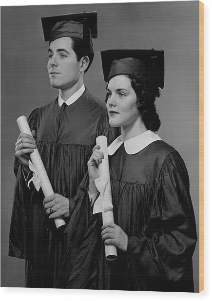 College Graduation Wood Print by George Marks