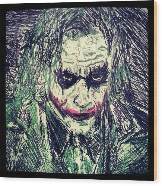 College Work 08' #joker #art Wood Print