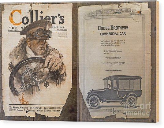Colliers Cover Both Sides Jan 5 1918 Wood Print by Roy Foos