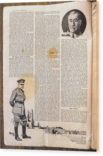 Colliers Jan 5 1918 Pg 6 Wood Print by Roy Foos