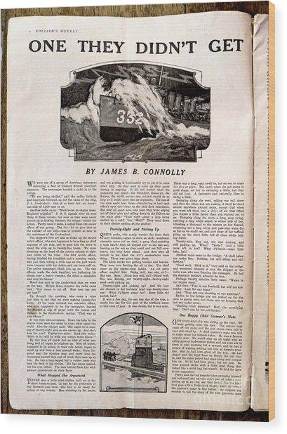 Colliers Jan 5 1918 Pg 8 Wood Print by Roy Foos