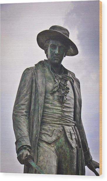 Colonel William Prescott Wood Print by Erica McLellan