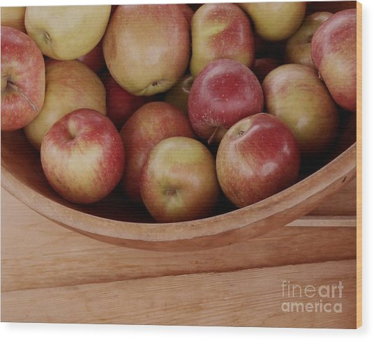 Colonial Apples Wood Print