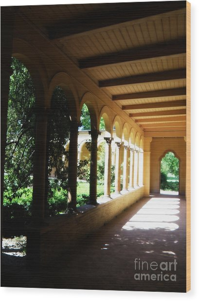 Colonnade  3 Wood Print by Tanya  Searcy