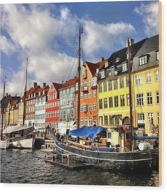 Color In Copenhagen Wood Print