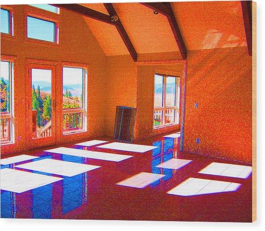 Color My Space Wood Print by Dee Fabian