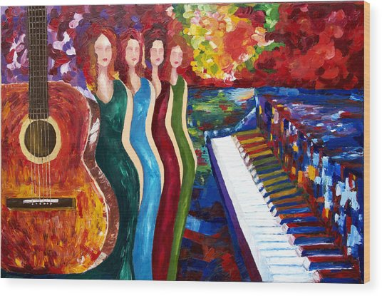 Color Of Music Wood Print