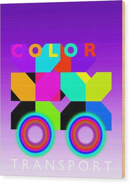 Color Wheels Wood Print
