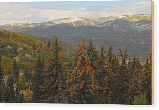 Colorada Mountains Wood Print