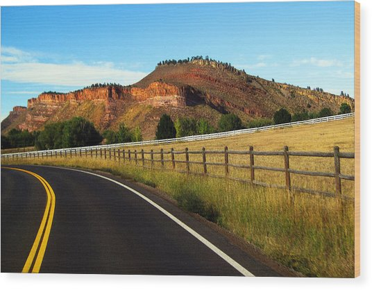 Colorado Curve Wood Print by Ric Soulen