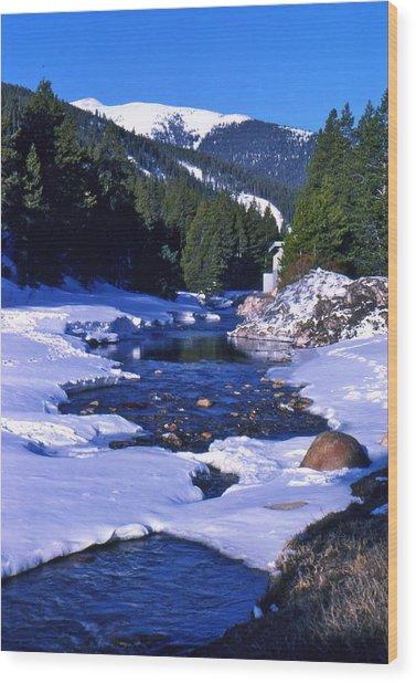 Colorado Mountain Stream Wood Print