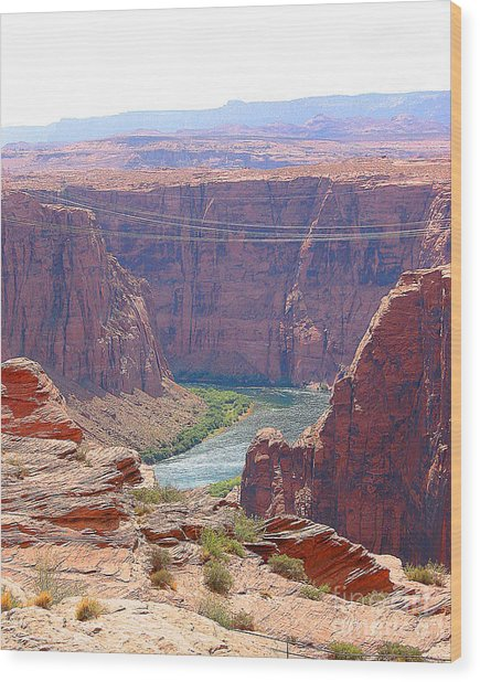 Colorado River In Arizona Wood Print by Merton Allen