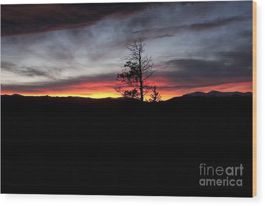 Colorado Sunset Wood Print