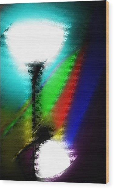 Colorful Lights Wood Print