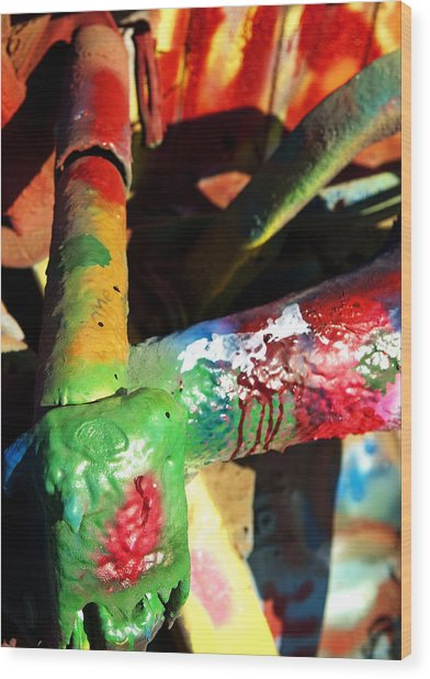 Colorful  Wood Print by Malania Hammer