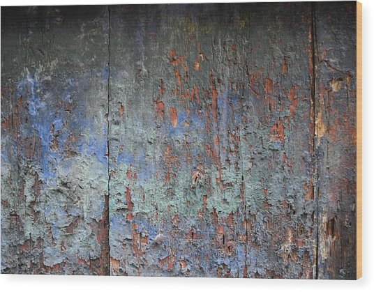 Colors Wood Print by