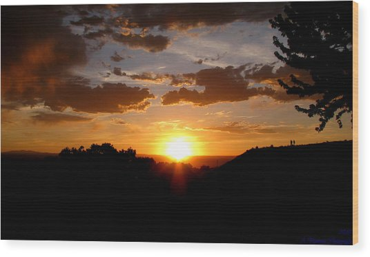 Colors Of A Setting Sun Wood Print by Aaron Burrows