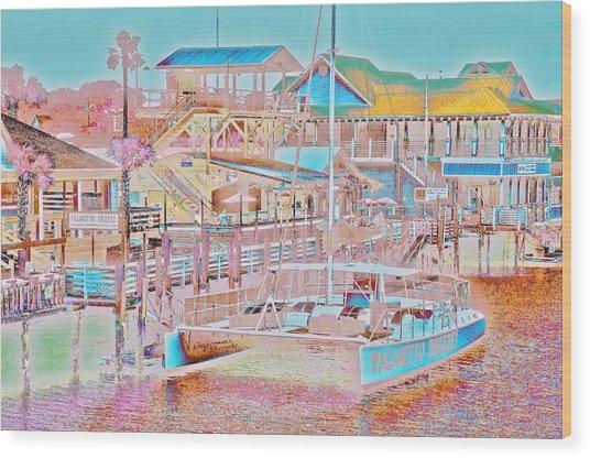 Colors Of Shem Creek Sc Wood Print