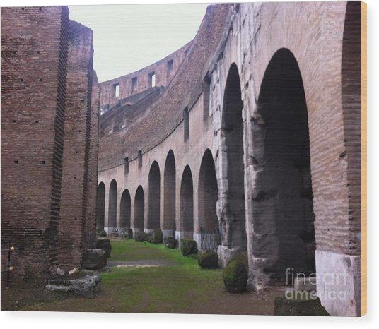 Colosseum Vomitorium Wood Print by Richard Chapman