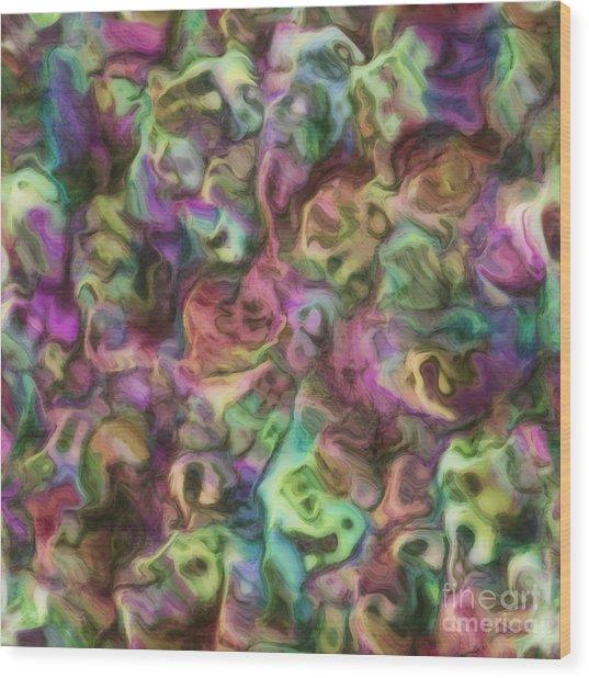 Colour Aquatica Wood Print