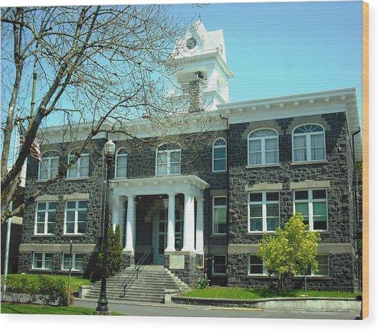 Columbia County Courthouse Saint Helens Wood Print