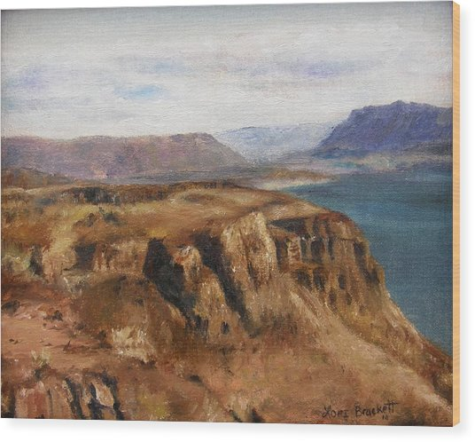 Columbia River Gorge I Wood Print