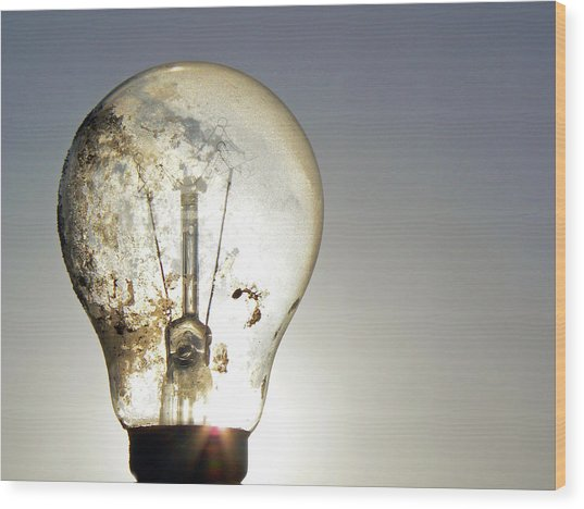 Concept Illumination  Wood Print