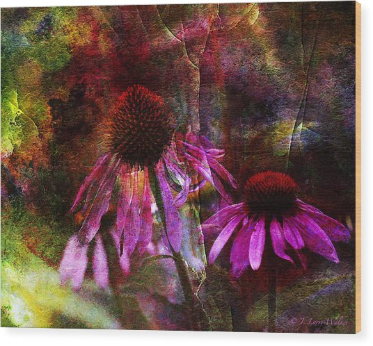 Cone Flower Beauties Wood Print