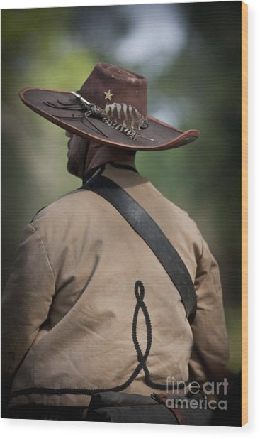 Confederate Cavalry Soldier Wood Print