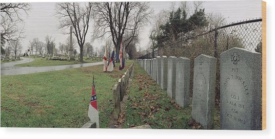 Confederate Graves Wood Print by Jan W Faul