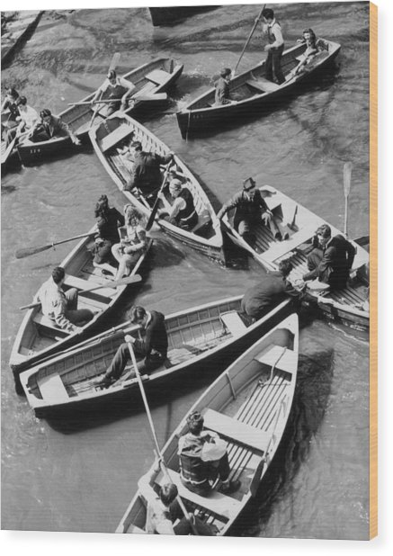 Congested Boating Wood Print by Mac Gramlich