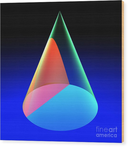 Conic Section Hyperbola 6 Wood Print
