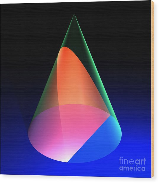 Conic Section Parabola 6 Wood Print