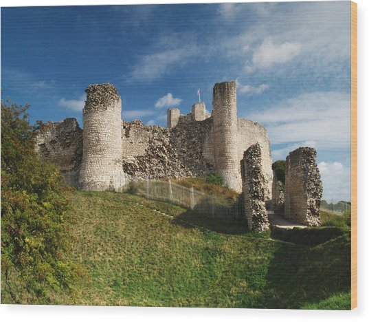 Conisborough Castle Wood Print
